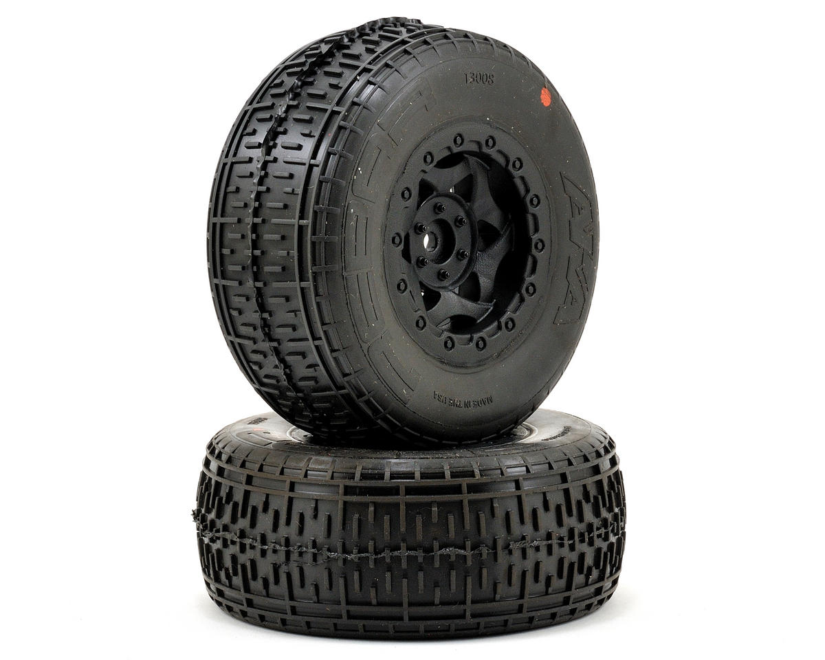 AKA Rebar SC Pre-Mounted Tires (SC6/Slash/Blitz) (2) (Black) (Super Soft)