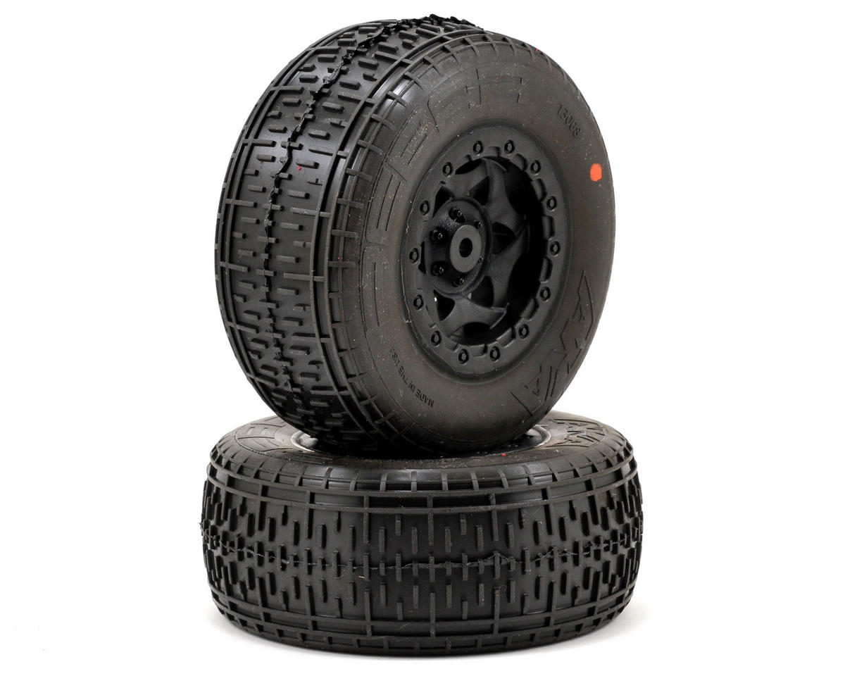 AKA Rebar SC Pre-Mounted Tires (SC10 Rear) (2) (Black) (Super Soft)