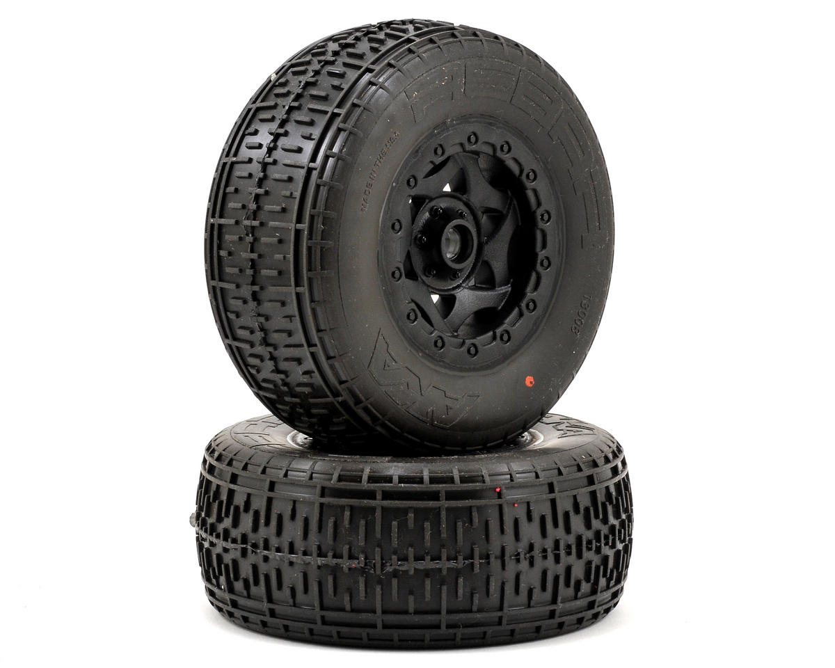 AKA Rebar SC Pre-Mounted Tires (SC10 Front) (2) (Black) (Super Soft)