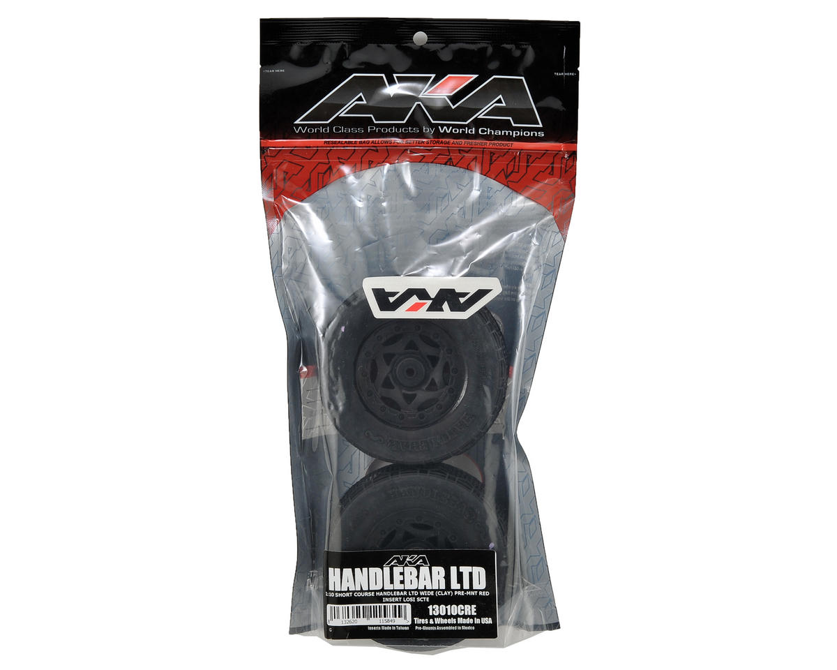 AKA Handlebar LTD Wide SC Pre-Mounted Tires (TEN-SCTE) (2) (Black)