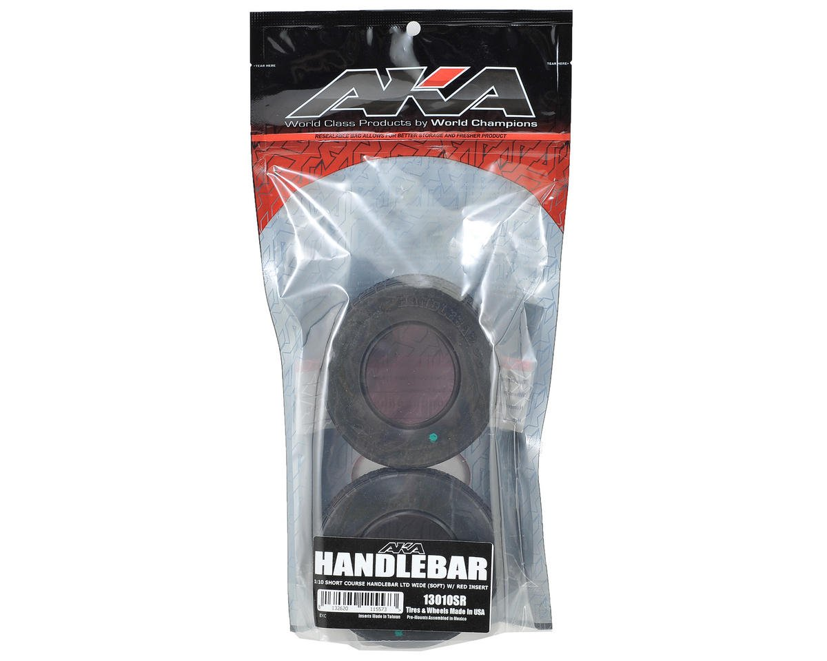 AKA Handlebar LTD Wide Short Course Tires (2) (Soft)