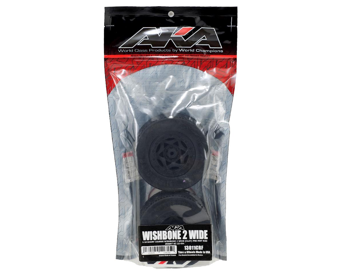 AKA Wishbone 2 Wide Short Course Pre-Mounted Tires (SC5M) (2)
