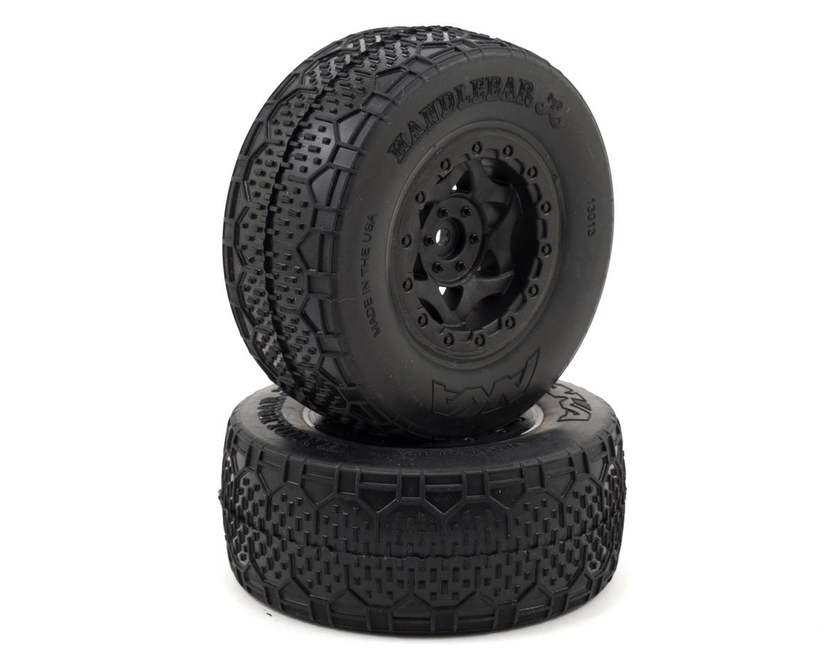 AKA Handlebar STD Wide SC Pre-Mounted Tires (Traxxas Slash Fr) (2) (Black)
