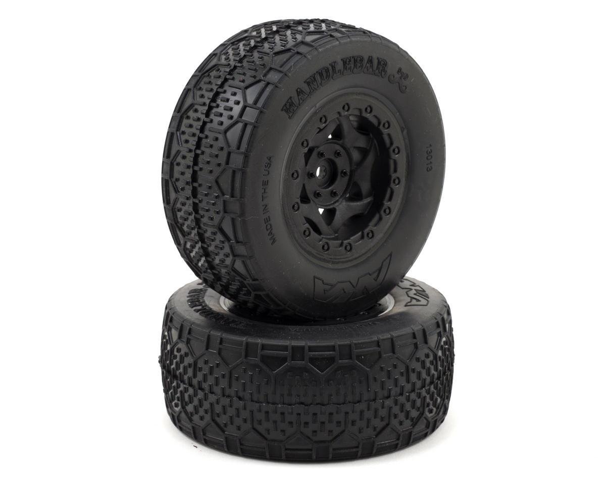 AKA Handlebar STD Wide SC Pre-Mounted Tires (Slash Fr) (2) (Black)