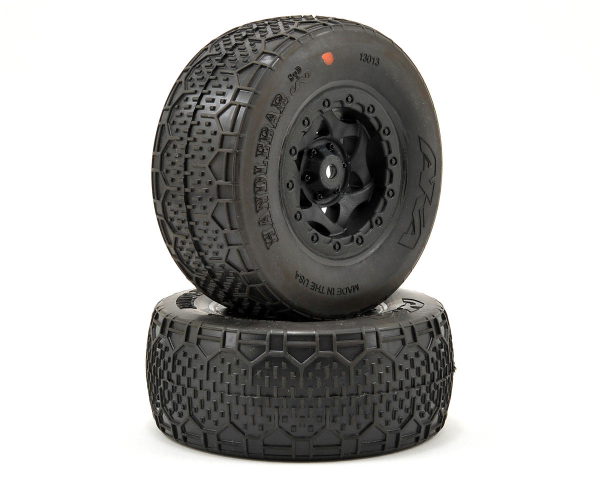 AKA Handlebar STD Wide SC Pre-Mounted Tires (Slash Fr) (2) (Black) (Super Soft)