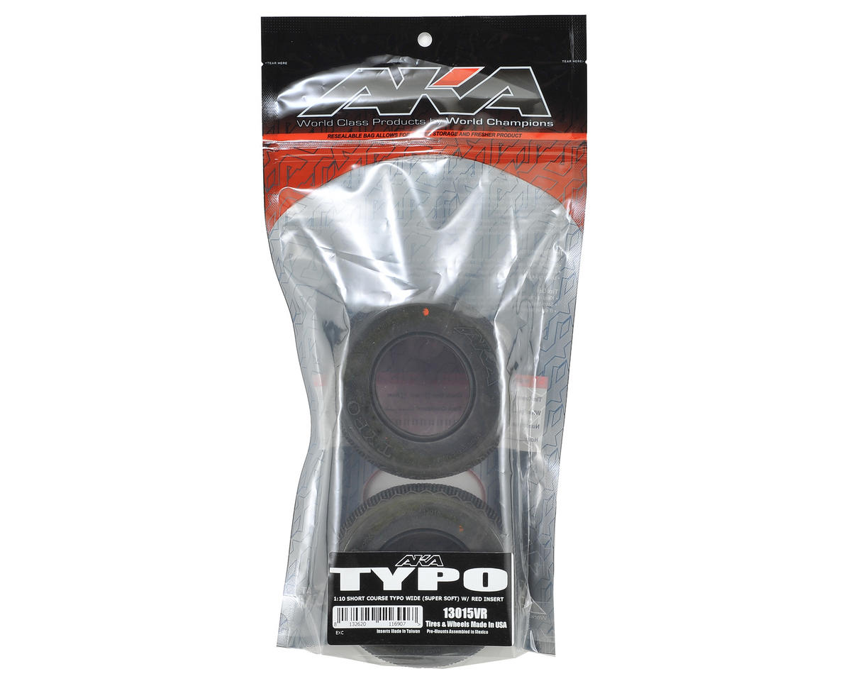 Typo Wide Short Course Tires (2) (Super Soft) by AKA