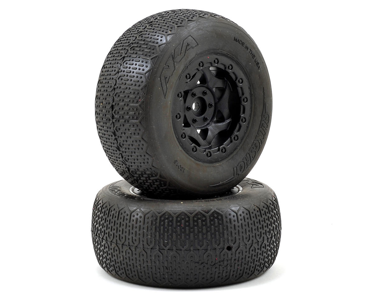AKA Typo Wide SC Pre-Mounted Tires (SC6/Slash/Blitz) (2) (Black) (Super Soft)