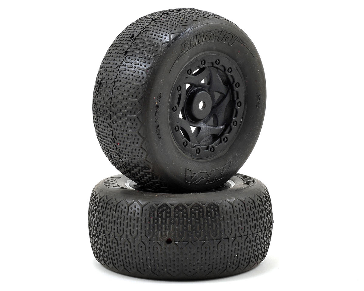 AKA Typo Wide SC Pre-Mounted Tires (TEN-SCTE) (2) (Black) (Super Soft)
