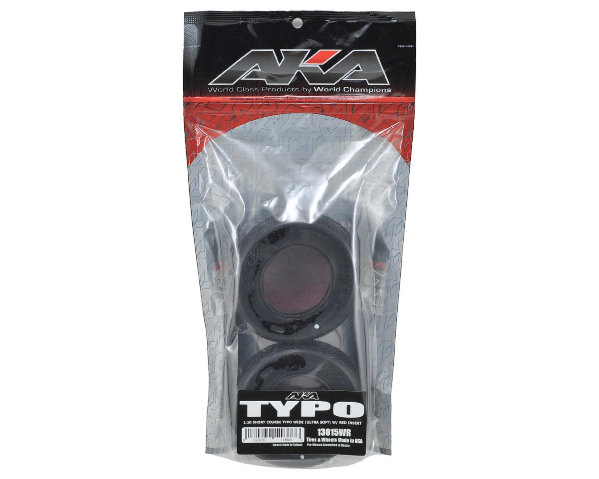 AKA Typo Wide Short Course Tires (2) (Ultra Soft)