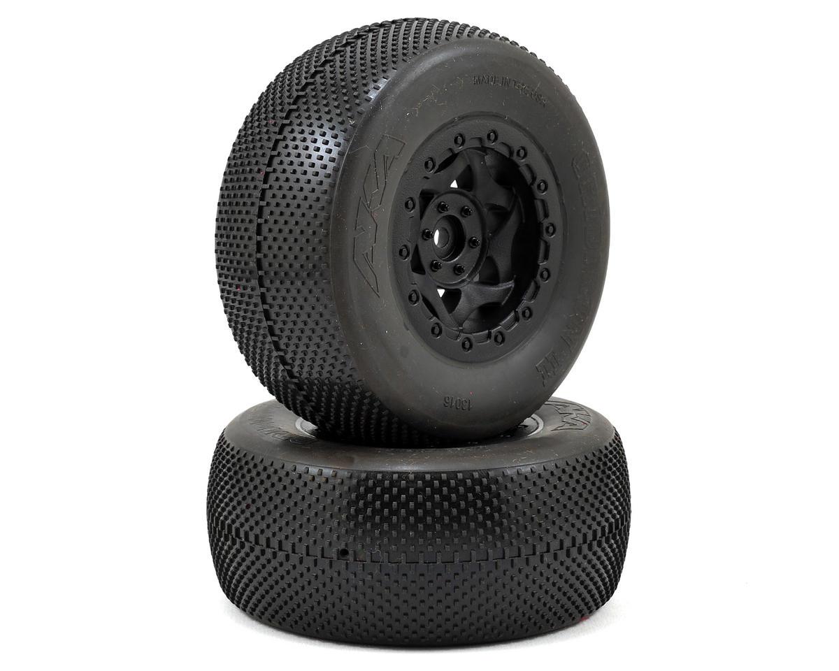 AKA Gridiron II Wide SC Pre-Mounted Tires (Slash Rear) (2) (Black) (Soft)