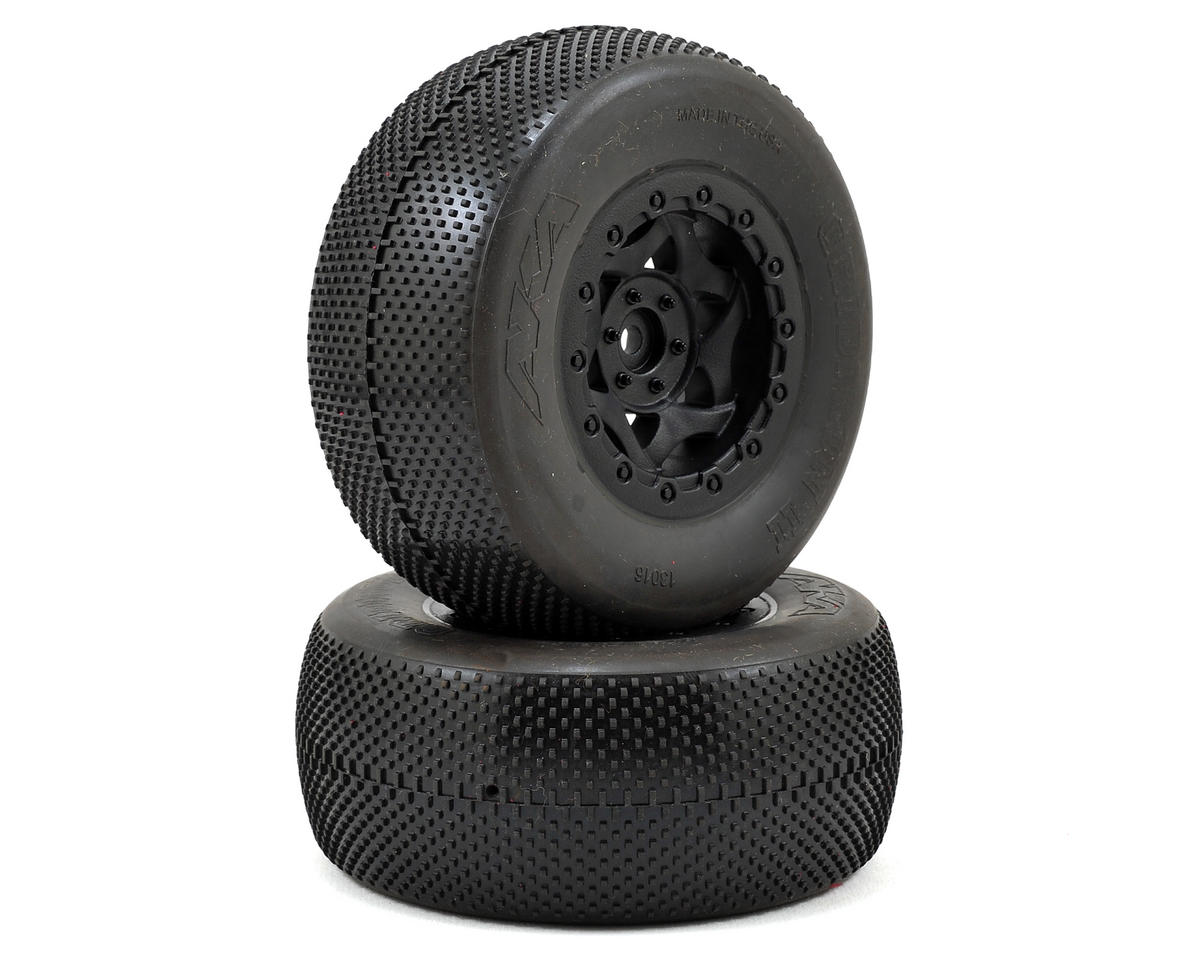 AKA Gridiron II Wide SC Pre-Mounted Tires (22SCT/TEN-SCTE) (2) (Super Soft)