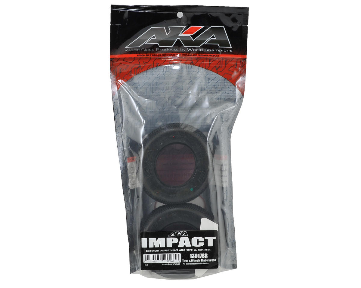 AKA Impact Wide Short Course Tires (2) (Soft)