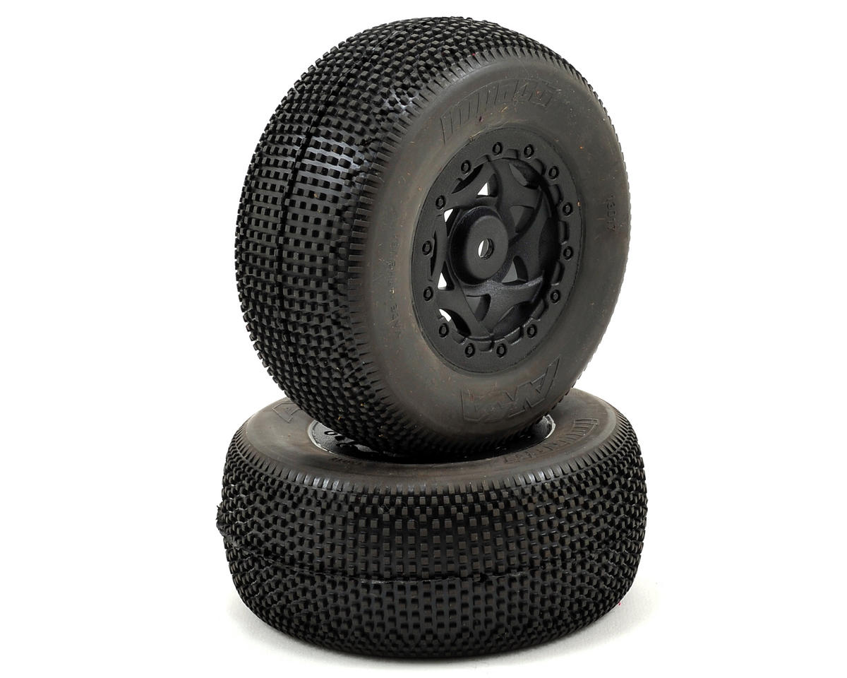 AKA Impact Wide SC Pre-Mounted Tires (TEN-SCTE) (2) (Black) (Losi TEN-SCT Nitro)