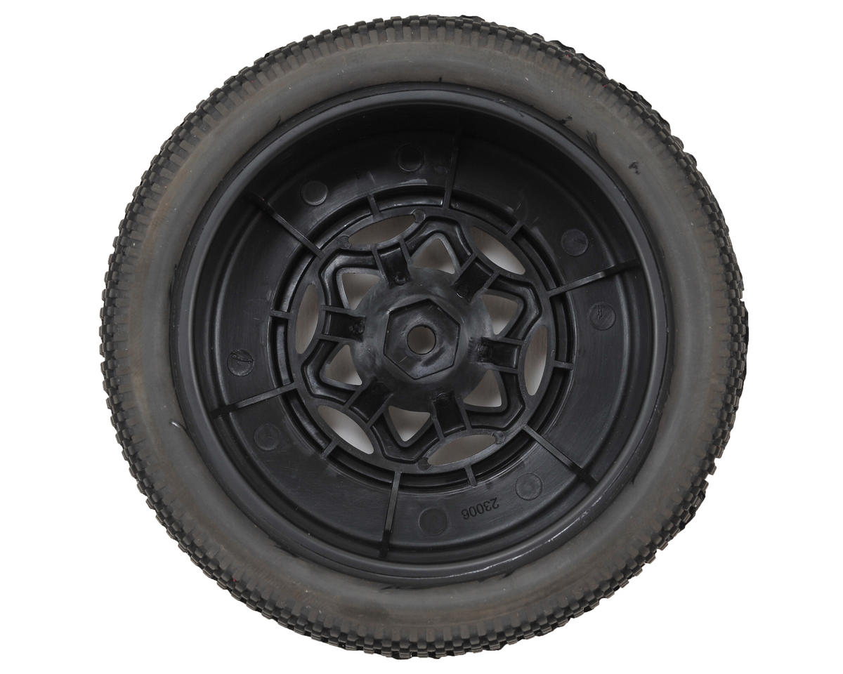 Impact Wide SC Pre-Mounted Tires (TEN-SCTE) (2) (Black) (Soft) by AKA