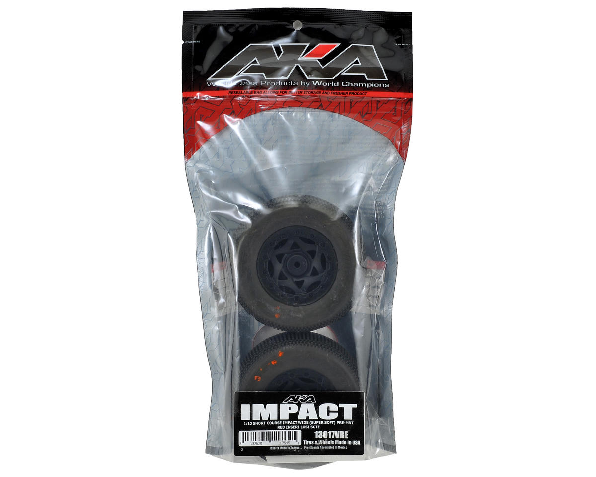 AKA Impact Wide SC Pre-Mounted Tires (TEN-SCTE) (2) (Black) (Super Soft)