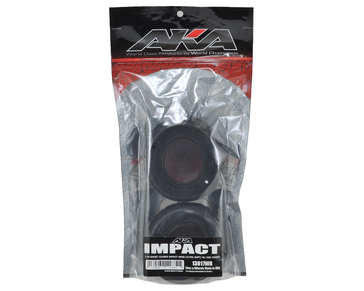 AKA Impact Wide Short Course Tires (2) (Ultra Soft)