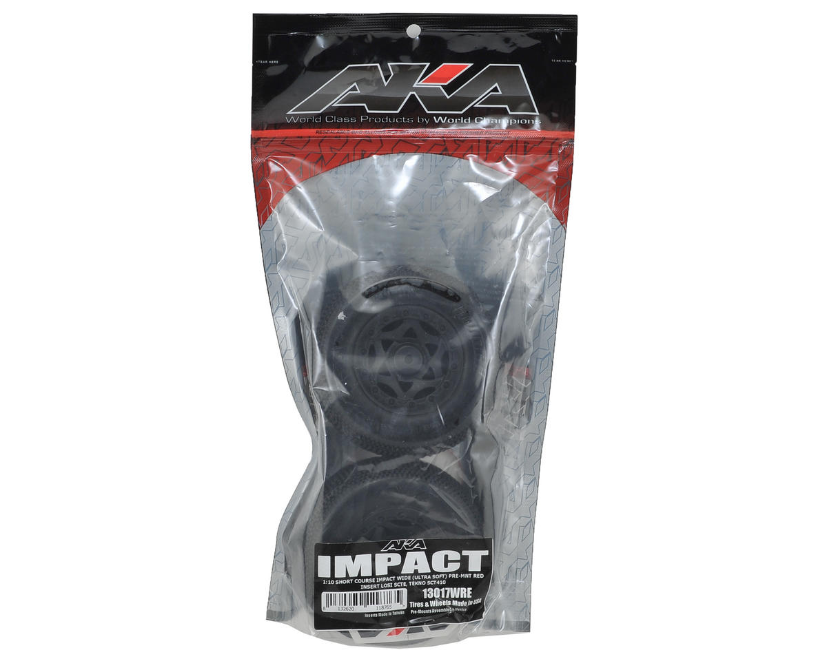 AKA Impact Wide SC Pre-Mounted Tires (TEN-SCTE) (2) (Black) (Ultra Soft)