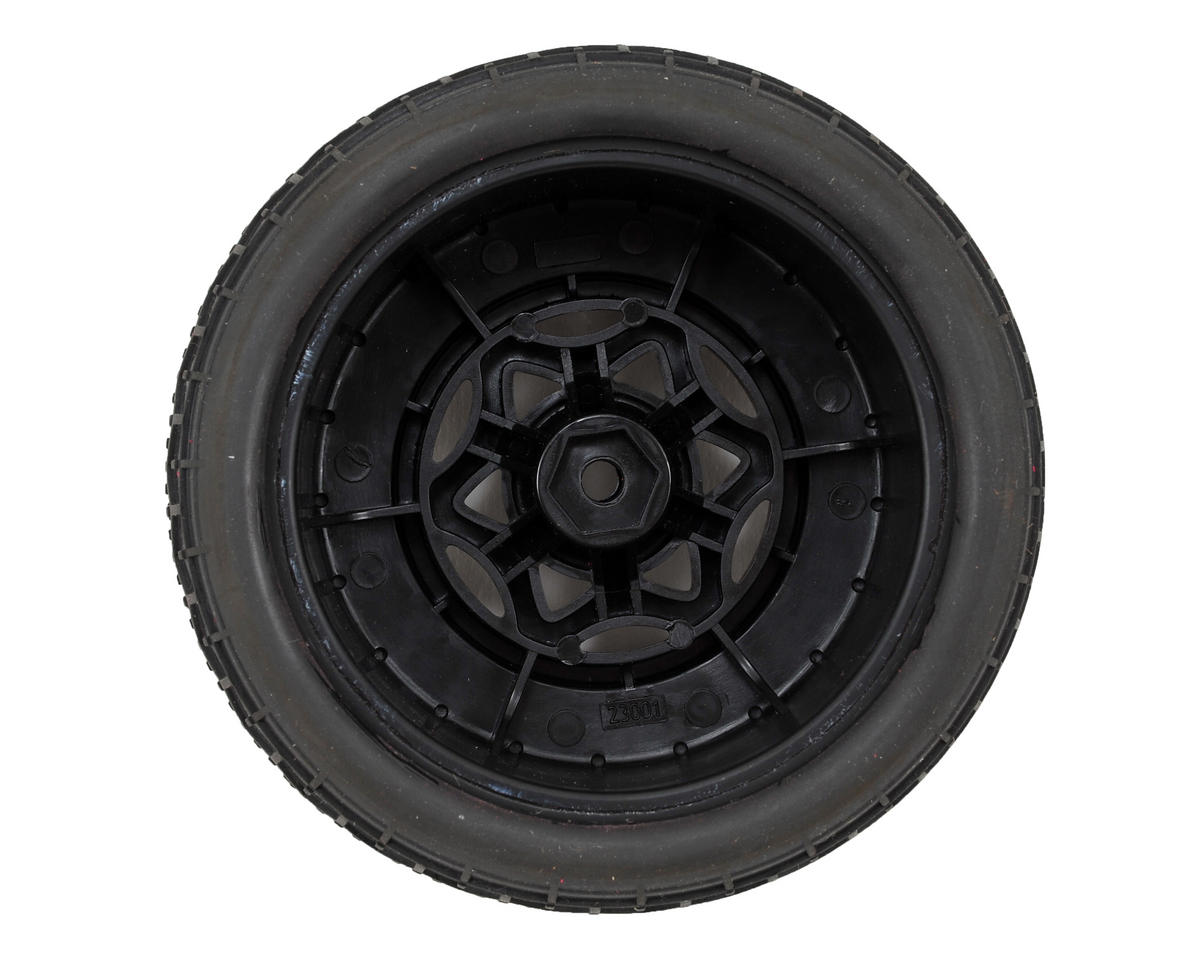 AKA Deja Vu Wide SC Pre-Mounted Tires (Slash Rear) (2) (Black)