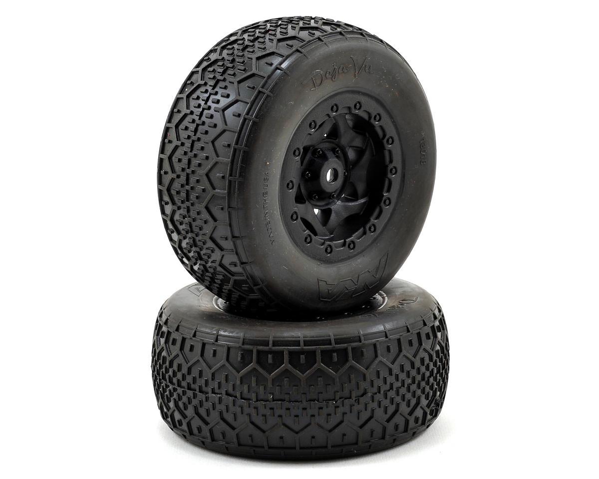 AKA Deja Vu Wide SC Pre-Mounted Tires (SC5M) (2) (Black) (Soft)