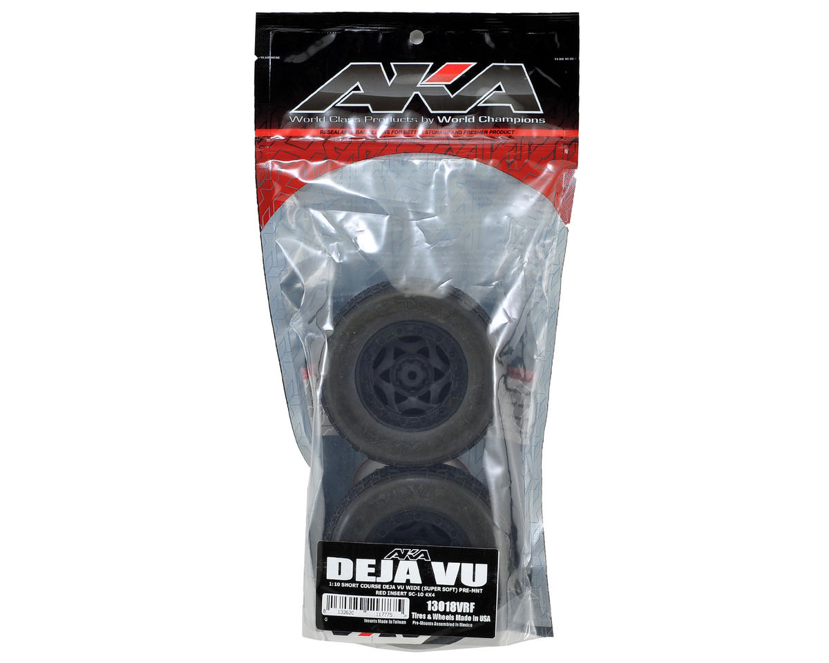 AKA Deja Vu Wide SC Pre-Mounted Tires (SC5M) (2) (Black) (Super Soft)