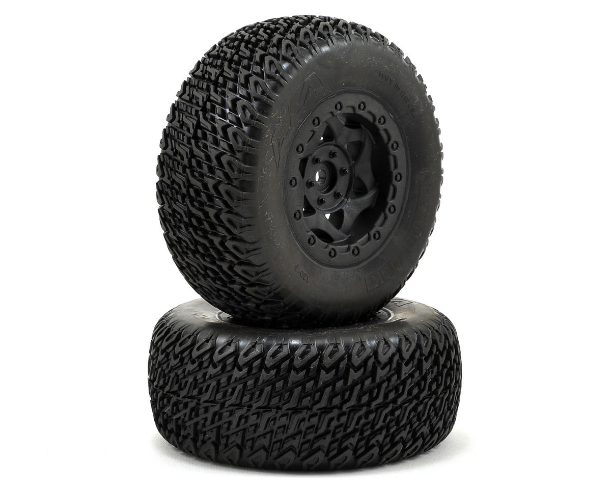 AKA Roadblock Wide SC Pre-Mounted Tires (SC6/Slash/Blitz) (2) (Soft)