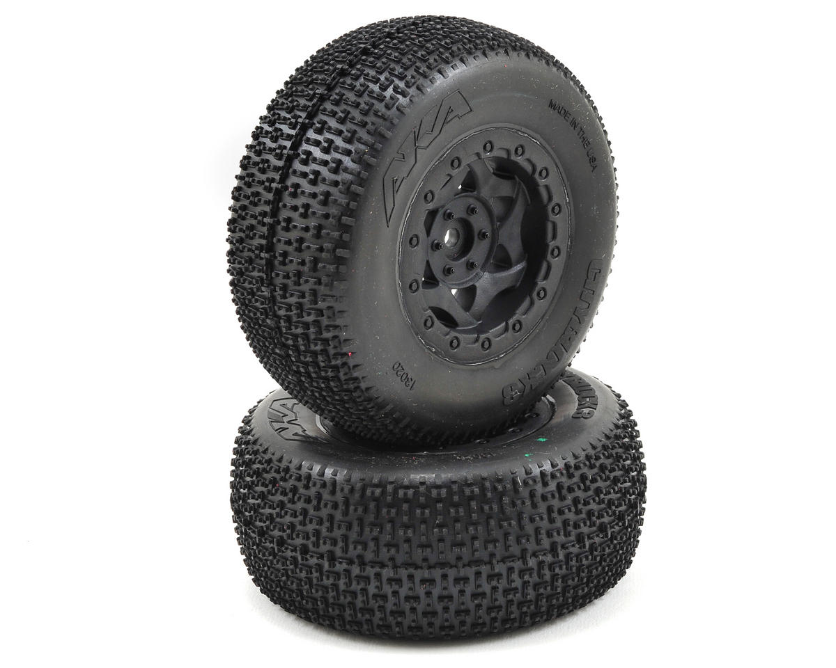 AKA Cityblock 3 Wide SC Pre-Mounted Tires (SC6/Slash) (2) (Black) (Soft)