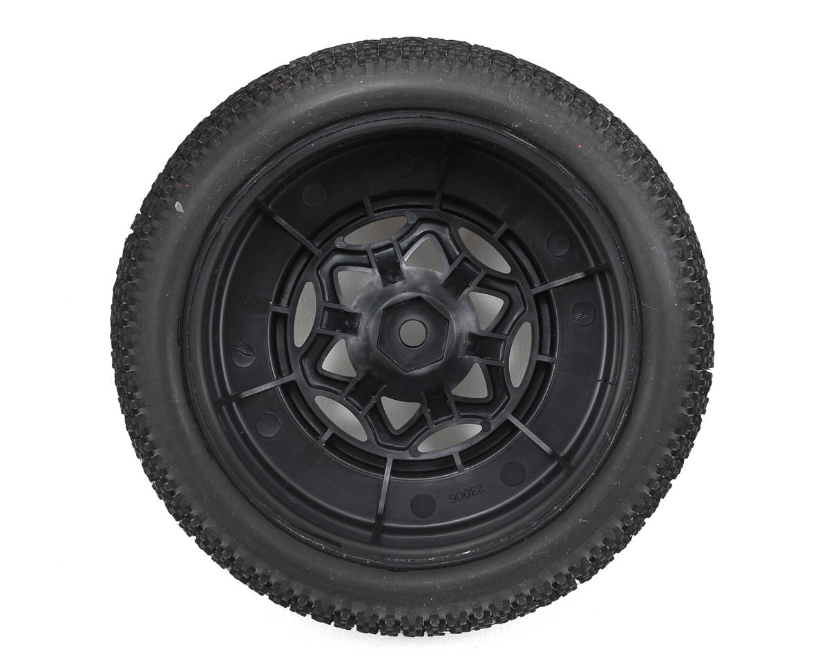 AKA Cityblock 3 Wide SC Pre-Mounted Tires (TEN-SCTE) (2) (Black) (Soft)
