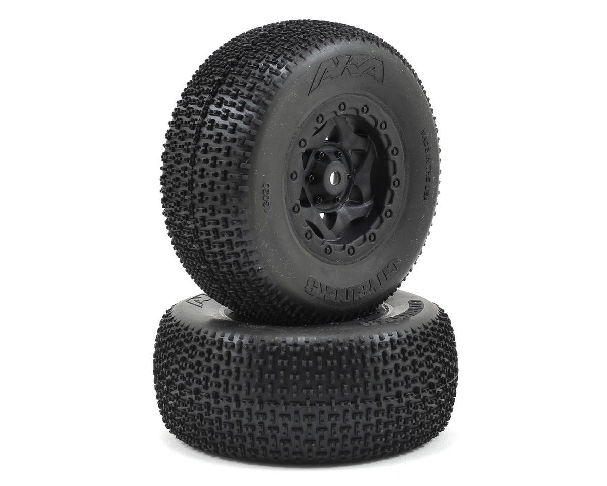 AKA Cityblock 3 Wide SC Pre-Mounted Tires (SC5M) (2) (Black) (Team Associated RC10 SC5M)
