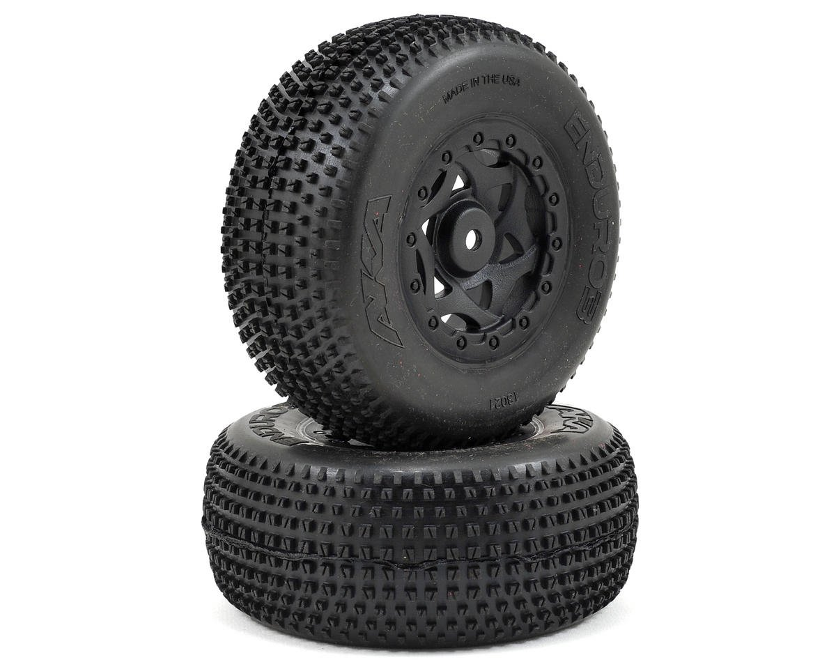 AKA Enduro 3 Wide SC Pre-Mounted Tires (TEN-SCTE) (2) (Black) (Tekno RC SCT410.3)