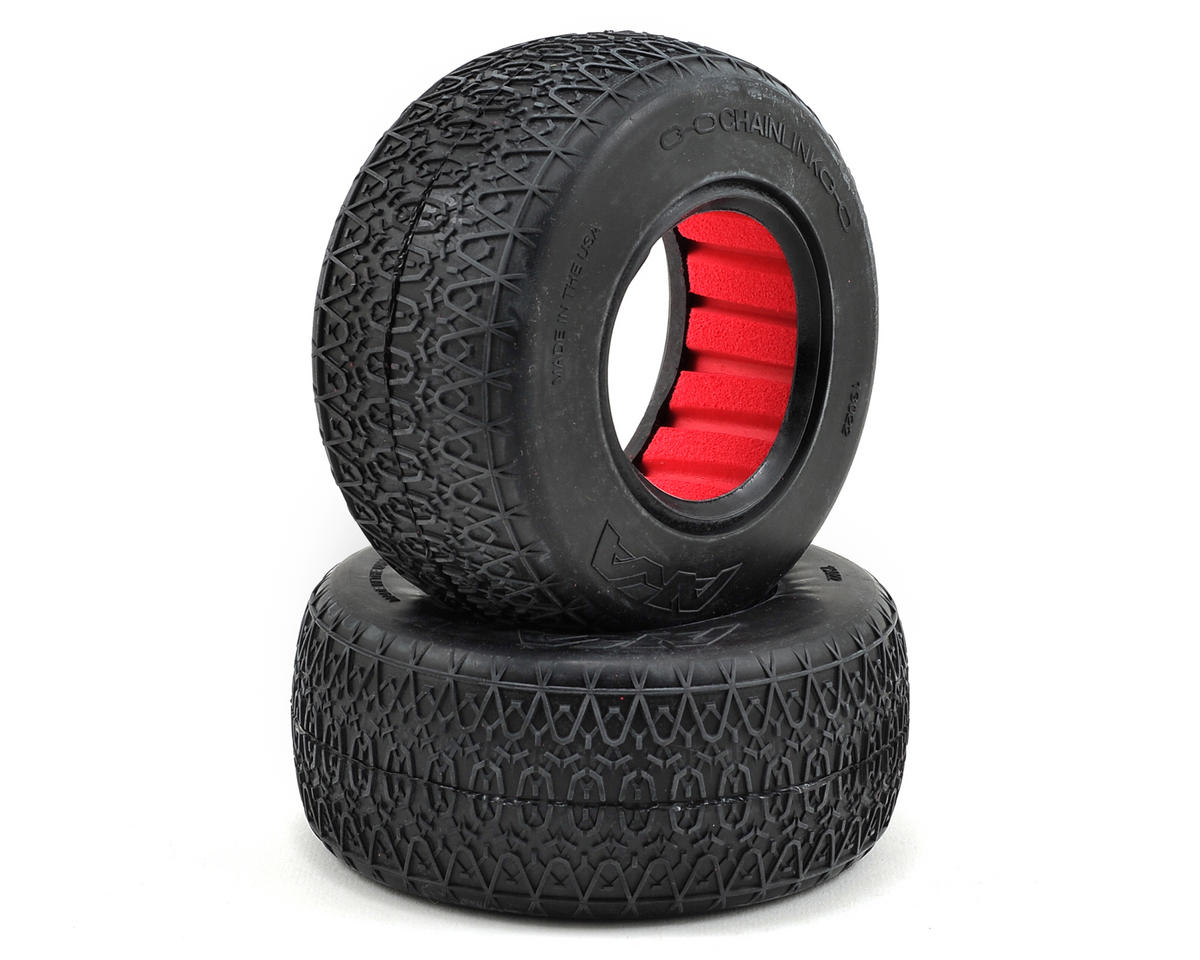 AKA Chain Link Wide Short Course Tires (2) (Clay)