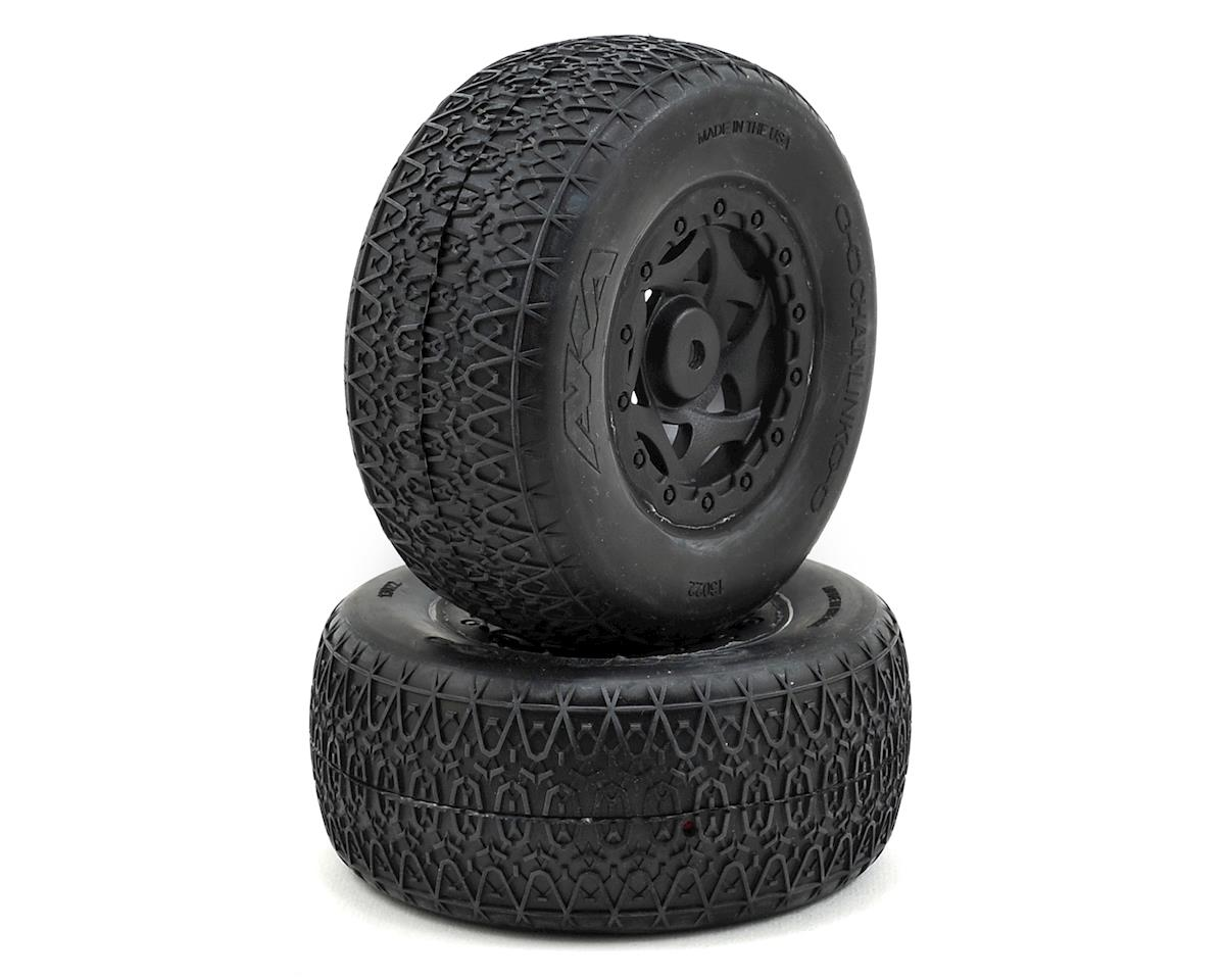 AKA Chain Link Wide SC Pre-Mounted Tires (22SCT/TEN-SCTE) (2) (Tekno RC SCT410)