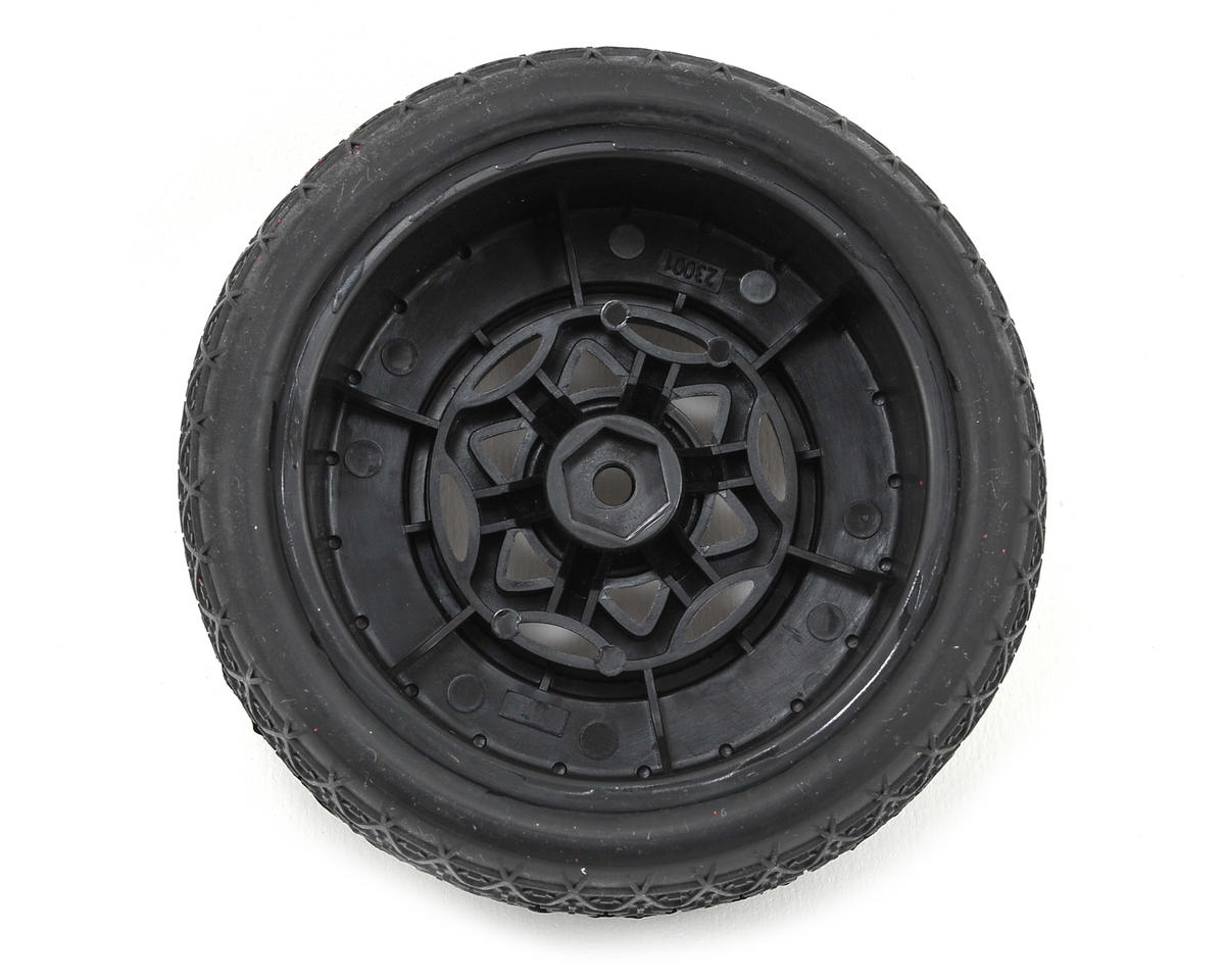 AKA Chain Link Wide SC Pre-Mounted Tires (SC6/Slash) (2) (Black) (Super Soft)