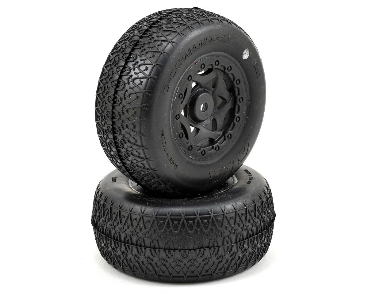 AKA Chain Link Wide SC Pre-Mounted Tires (22SCT/TEN-SCTE) (2) (Ultra Soft)