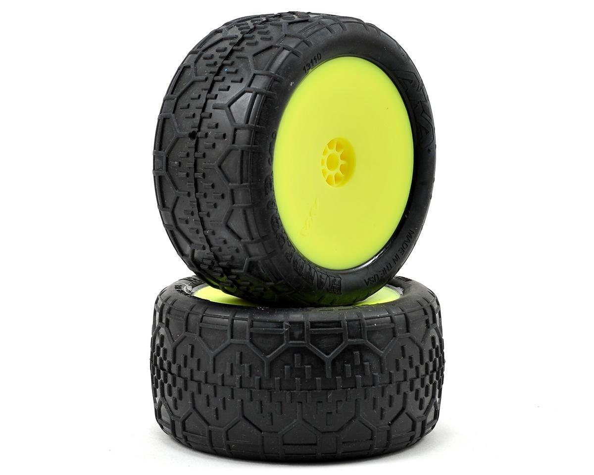 "AKA Handlebar LTD 2.2"" Rear Buggy Pre-Mounted Tires (2) (Yellow)"