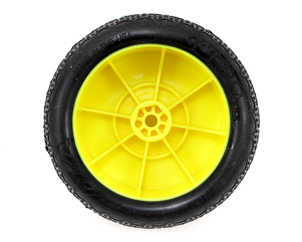 "AKA ""EVO"" Typo 2.4"" Rear Buggy Pre-Mounted Tires (2) (Yellow) (Clay)"