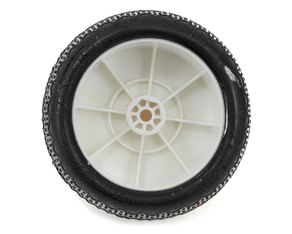 "AKA ""EVO"" Typo 2.4"" Rear Buggy Pre-Mounted Tires (2) (White) (Ultra Soft)"