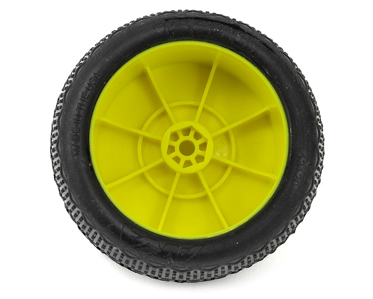 """""""EVO"""" Typo 2.4"""" Rear Buggy Pre-Mounted Tires (2) (Yellow) (Ultra Soft) by AKA"""