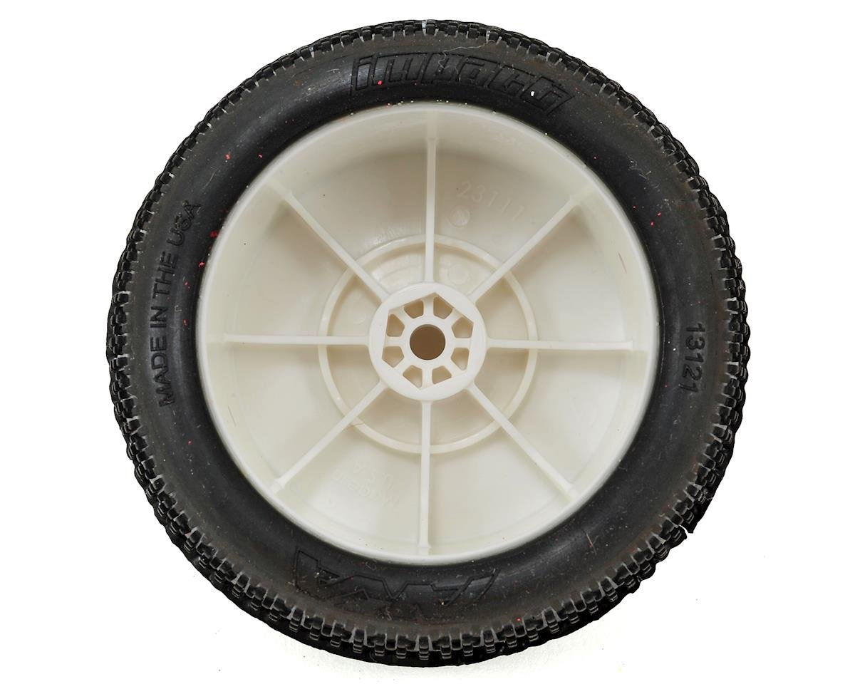 "AKA ""EVO"" Impact 2.4"" Rear Buggy Pre-Mounted Tires (2) (White) (Soft)"