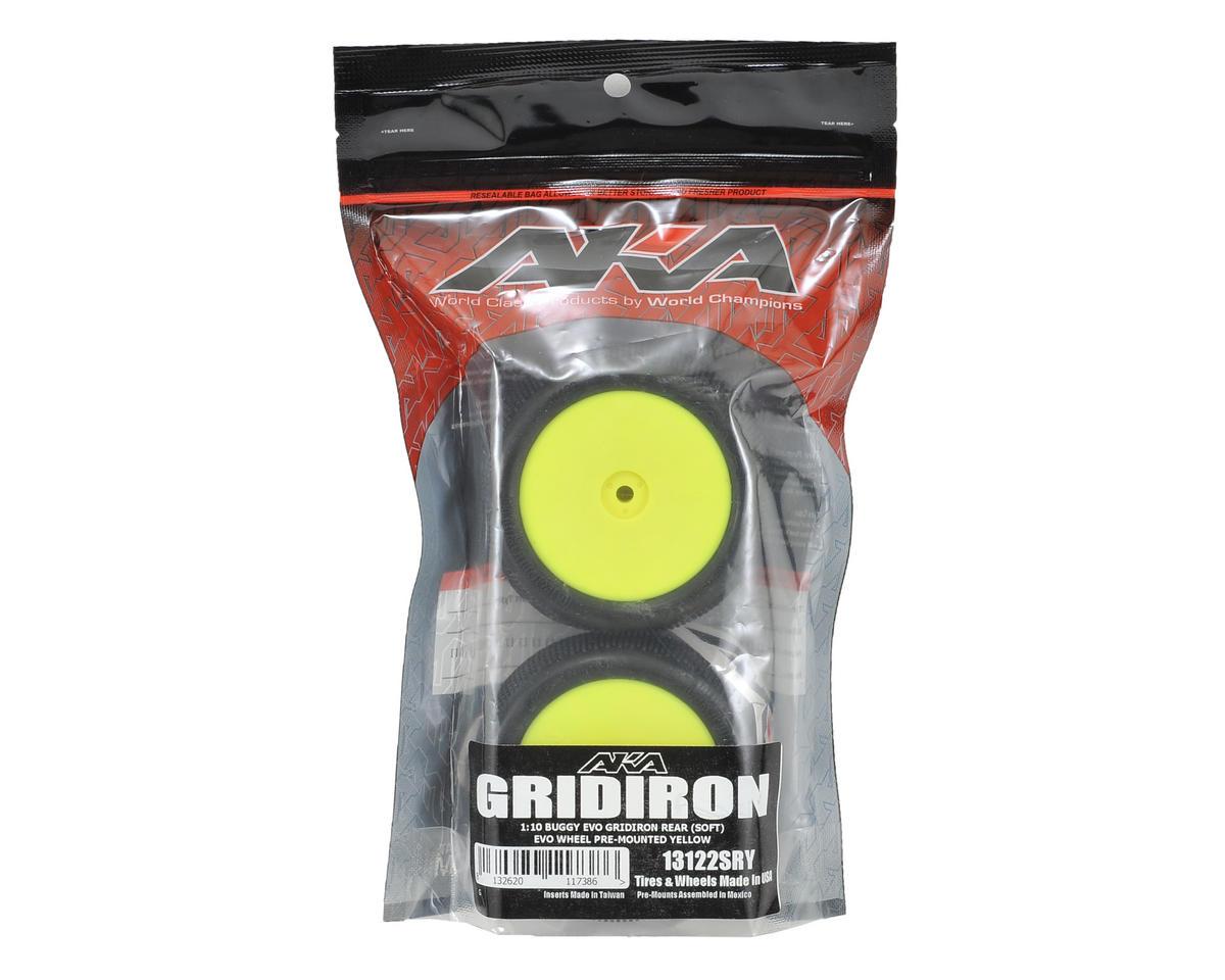 "AKA ""EVO"" Gridiron 2.4"" Rear Buggy Pre-Mounted Tires (2) (Yellow) (Soft)"
