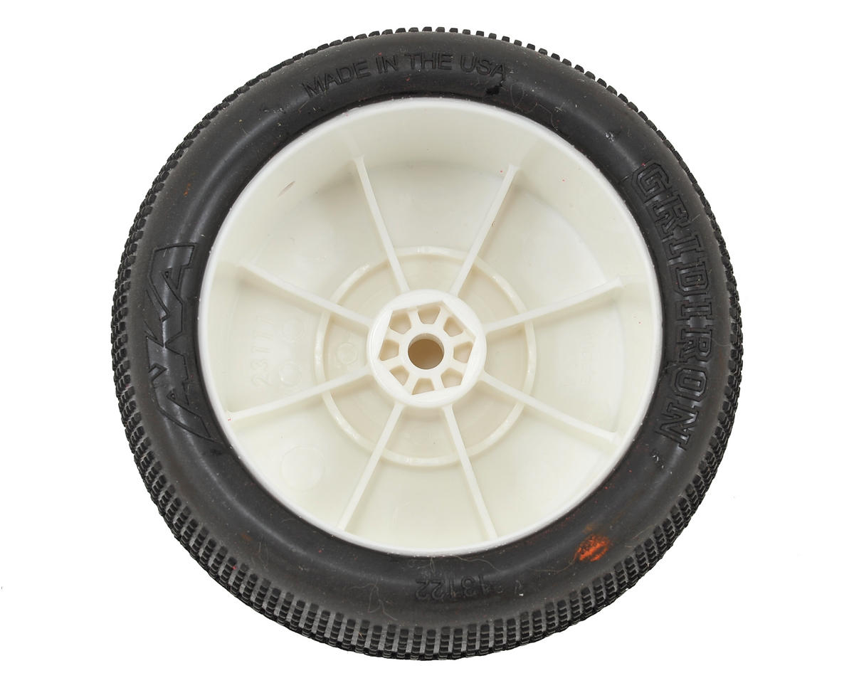 "AKA ""EVO"" Gridiron 2.4"" Rear Buggy Pre-Mounted Tires (2) (White) (Super Soft)"