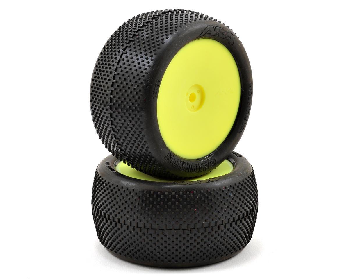 "AKA ""EVO"" Gridiron 2.4"" Rear Buggy Pre-Mounted Tires (2) (Yellow) (Super Soft)"