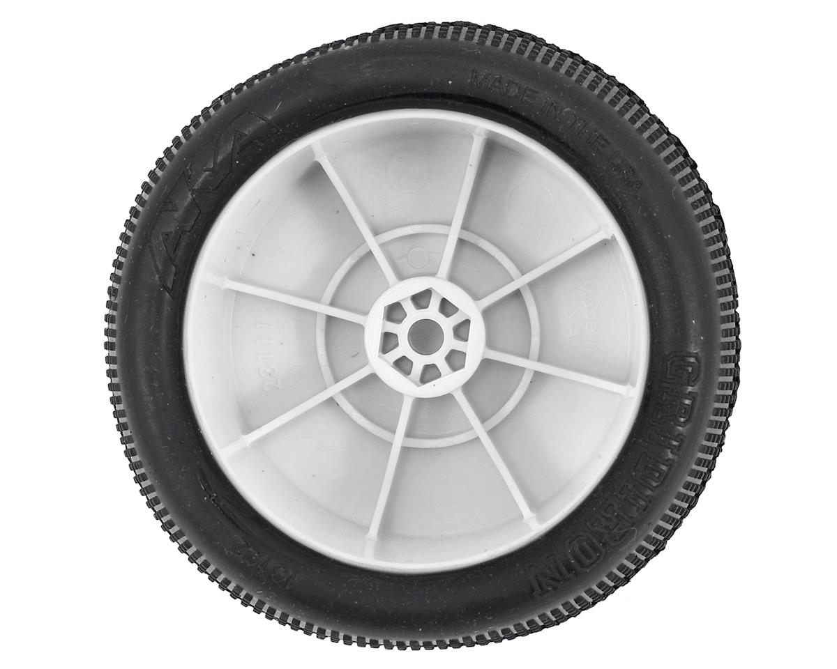 "AKA ""EVO"" Gridiron 2.4"" Rear Buggy Pre-Mounted Tires (2) (White) (Ultra Soft)"
