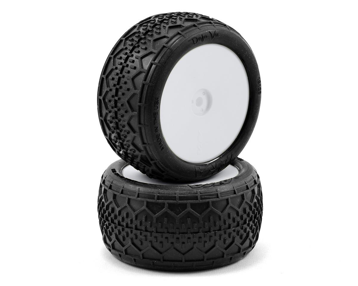 "AKA ""EVO"" Deja Vu 2.4"" Rear Buggy Pre-Mounted Tires (2) (White) (Soft)"