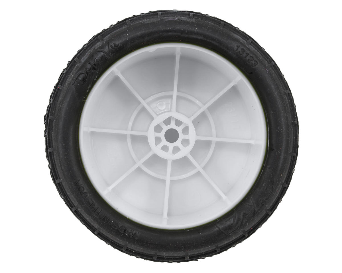 "AKA ""EVO"" Deja Vu 2.4"" Rear Buggy Pre-Mounted Tires (2) (White) (Soft)"