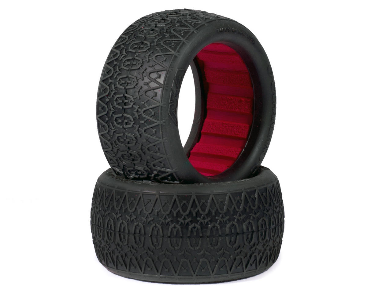 """EVO"" Chain Link Rear Buggy Tires (2) (Clay) by AKA"