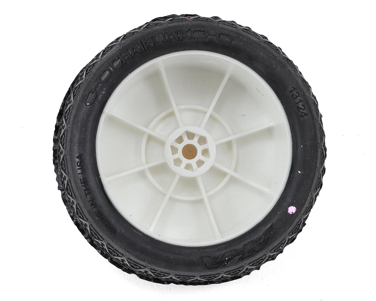 "AKA ""EVO"" Chain Link 2.4"" Rear Pre-Mounted Tires (2) (White) (Clay)"