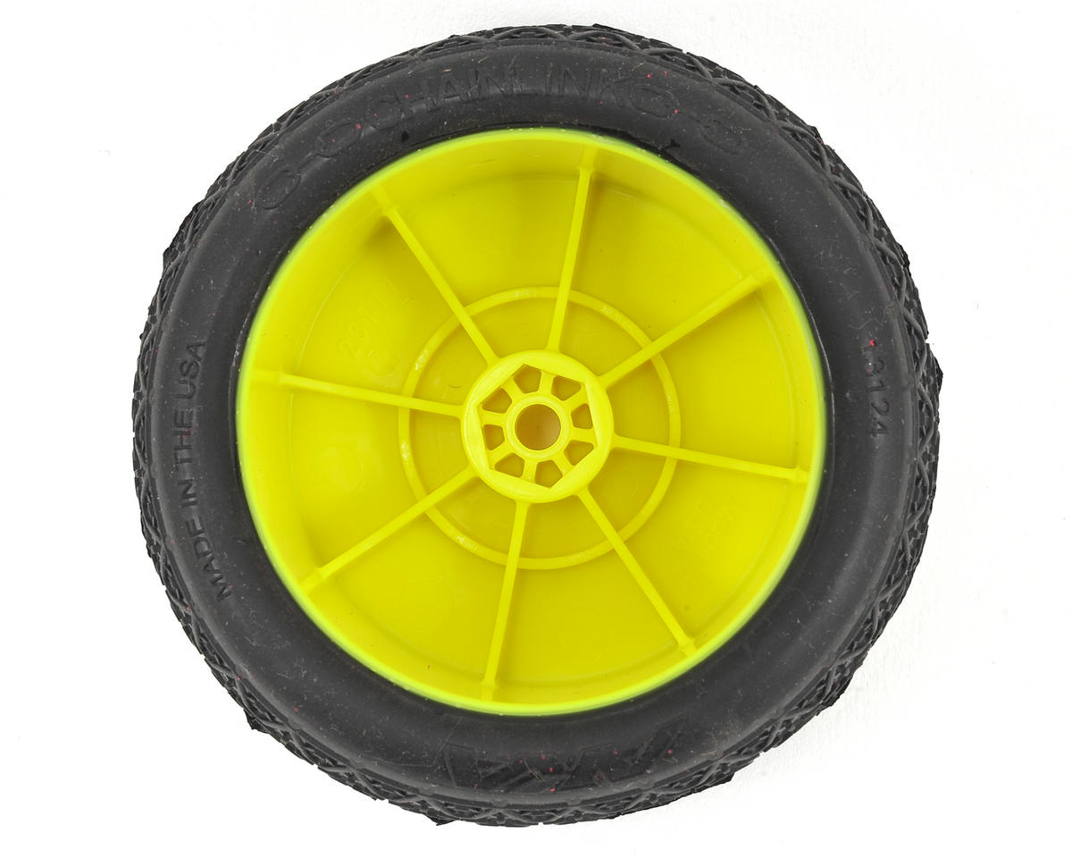 "AKA ""EVO"" Chain Link 2.4"" Rear Pre-Mounted Tires (2) (Yellow) (Ultra Soft)"