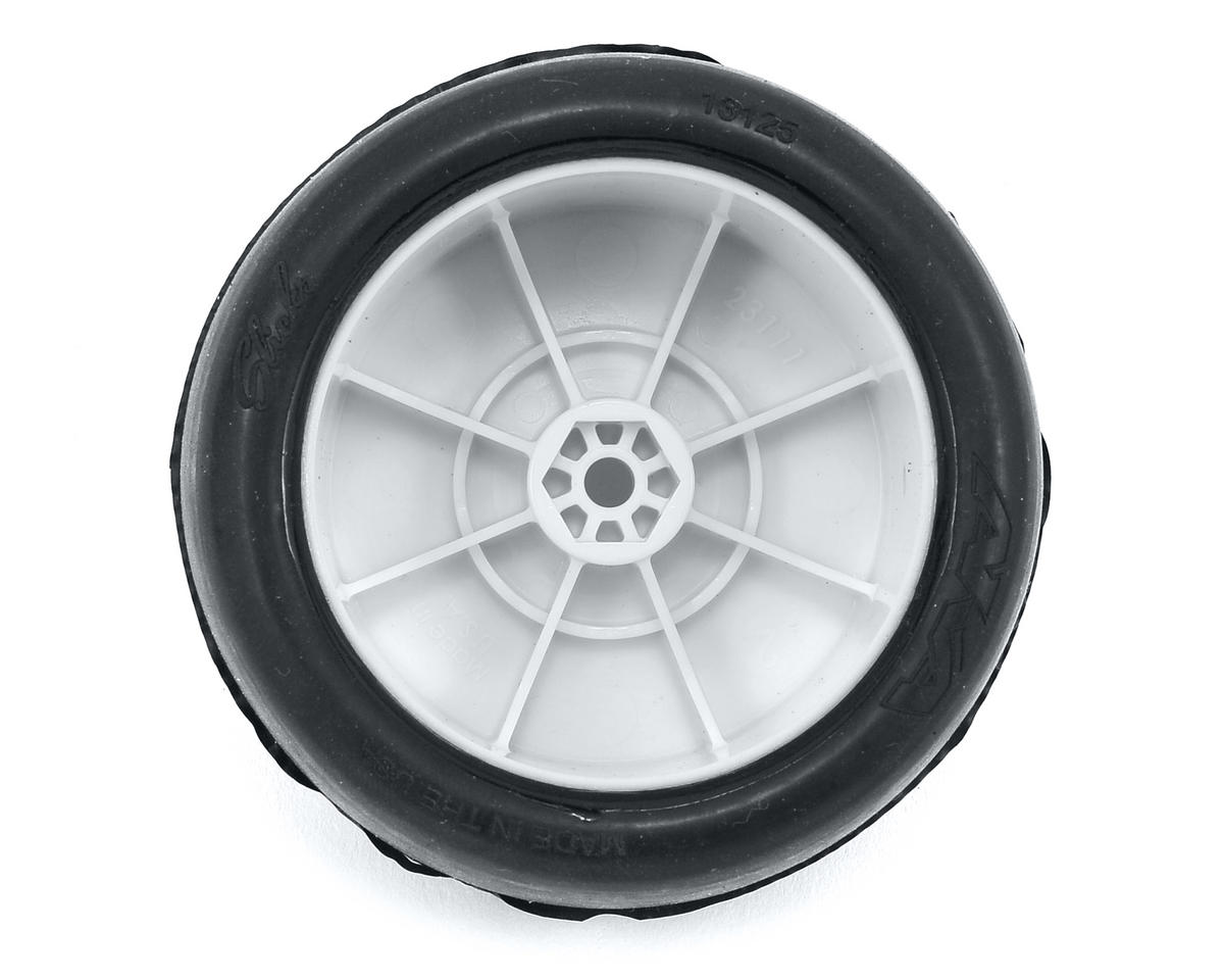 "AKA ""EVO"" Slicks 2.4"" Rear Buggy Pre-Mounted Tires (2) (White) (Clay)"