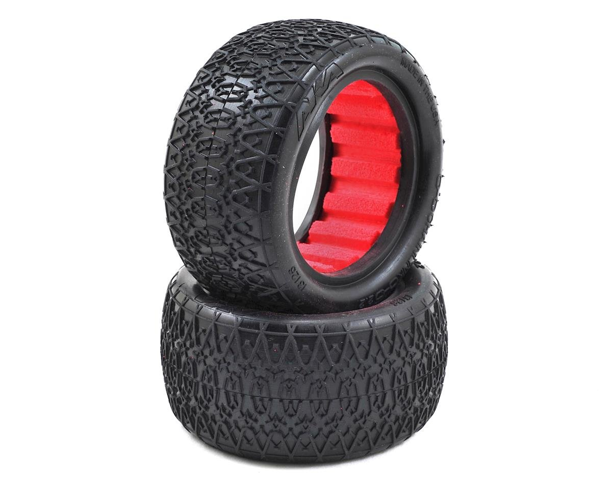 "Chain Link 2.2"" Rear Buggy Tires (2) (Clay) by AKA"