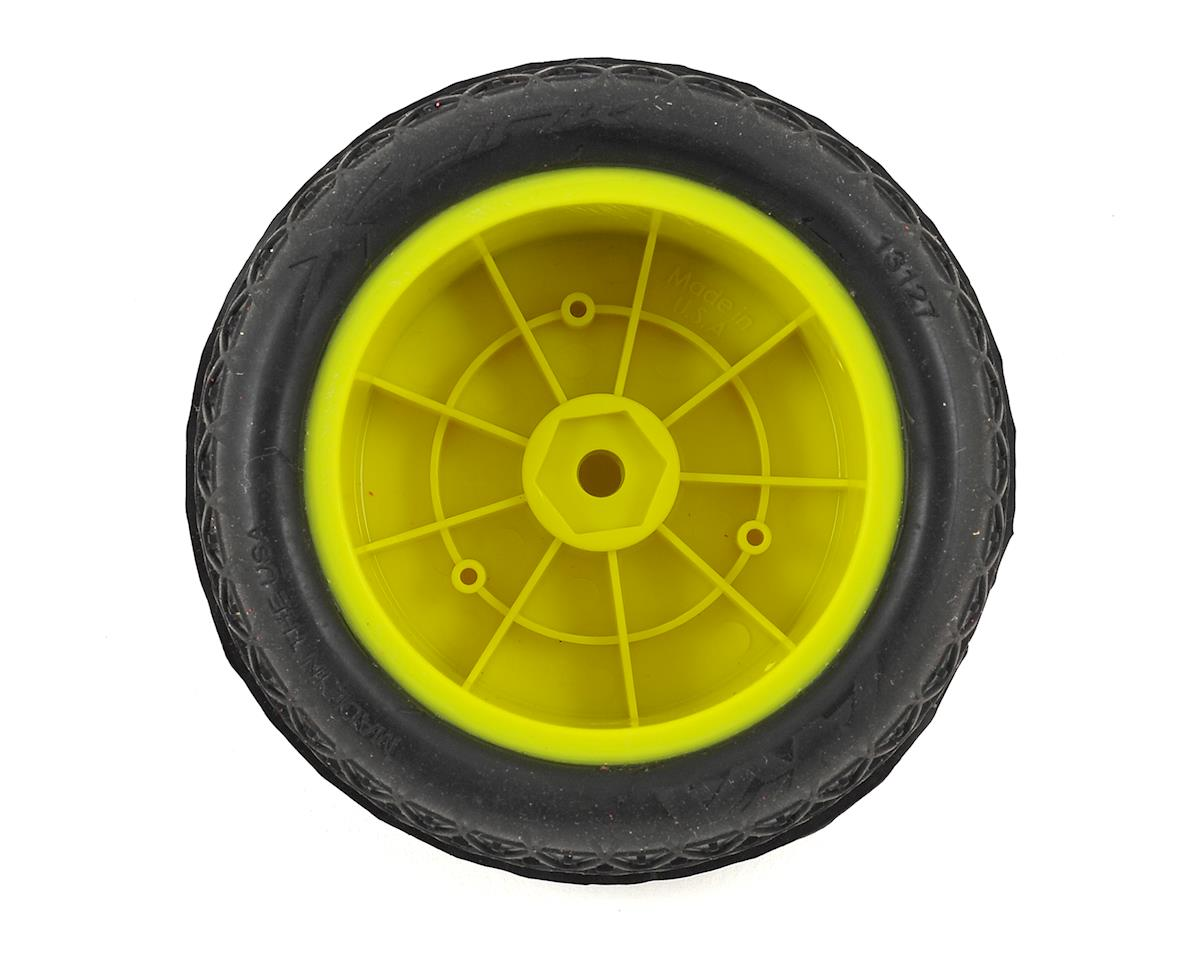 "AKA Crosslink 2.2"" Pre-Mounted Rear Buggy Tires (Yellow) (2) (Clay)"